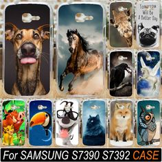 Cute Horse Cat Fox Giraffe Dog Owl Animal Phone Shell For Samsung Galaxy Trend Lite S7390 S7392 7390 7392 Phone Case Cover