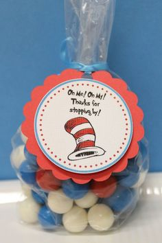 Dr Seuss Baby Shower Favors   Dr Seuss Baby Shower Birthday Party Favor