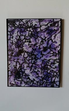 Abstract purple watercolor original expressionist by AutumnInBloom