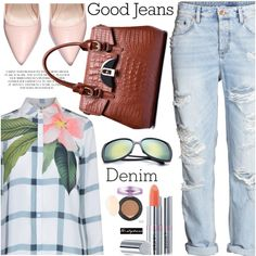 Distressed Denim 3 Outfit Idea 2017