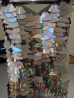 recycled CD Cocktail Dress | by Oraos