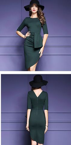 Elegant sophisticated khaki dress for stunning women. Perfect for night out, special events or even work. Find it at $25.99.