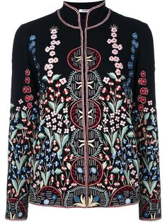 Shop Vilshenko embroidered fitted jacket.