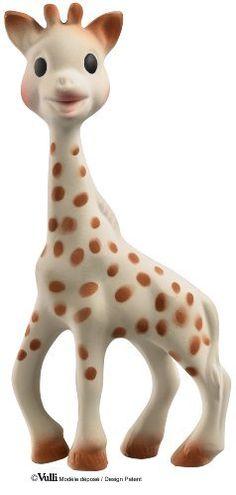 Vulli Sophie the Giraffe Teether: http://www.amazon.com/Vulli-Sophie-the-Giraffe-Teether/dp/B000IDSLOG/?tag=httpbetteraff-20