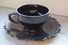 Black Amethyst Tea Cup