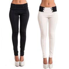 Mode damen casual Grund Plain hohe taille zurück reißverschluss Dünne Ganzkörperansicht Dünne Feste bleistift Hose