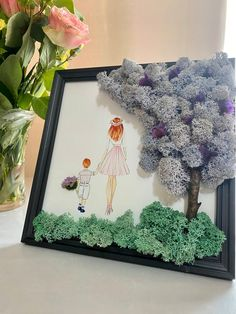 🍃Frames and decorations with naturall preserved moss🍃 by MossDecorations Moss Wall Art, Moss Art, Art For Kids, Crafts For Kids, Moss Decor, Sea Crafts, Frame Crafts, Plant Decor, Dried Flowers