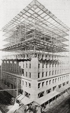 adler & sullivan | the construction of the wainwright building [st. louis, missouri]. - one of the first skyscrapers
