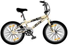 """BMX Monz Double X 20""""Freestyle & Allround, crema   Triavip.com"""