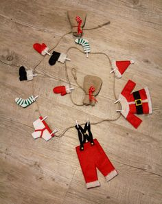 Santa's Washing Line Christmas Bunting by MadeByMeForYourTree