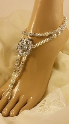 41370af39f903e Barefoot Sandals Foot Jewelry Beaded Barefoot Sandals Footless Sandals  Pearl Barefoot Sandal Bridal Foot Jewelry. Rhinestone ShoesRhinestone  WeddingBeaded ...