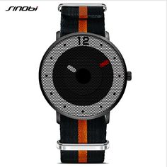 SINOBI Fashion Creative Men Watch Waterproof Nylon Strap Sport Watches Top Luxury Brand Male Quartz Watch Clock reloj hombre