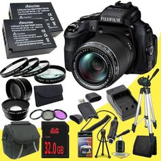 Fujifilm FinePix HS50EXR 16MP Digital Camera + Two NPW-126 Replacement Lithium Ion Battery + External Rapid Charger + 32GB SDHC Class 10 Memory Card + 58mm 3 Piece Filter Kit + 58mm 2x Telephoto Lens + 58mm Wide Angle Lens + 58mm Macro Close Up Kit + Carrying Case + Full Size Tripod + SDHC Card USB Reader + Memory Card Wallet + Deluxe Starter Kit  http://www.lookatcamera.com/fujifilm-finepix-hs50exr-16mp-digital-camera-two-npw-126-replacement-lithium-ion-battery-external-rapid-charg..