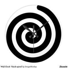Wall Clock  'black spiral'