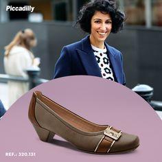 Sapato Feminino Piccadilly Maxitherapy Salto Baixo Conforto