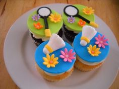 Badminton Cup Cakes