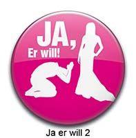 Button Ja er will 2