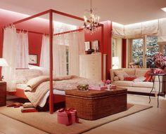Wohnräume einrichten mit Rot | Schlafzimmer, Rot und Wohnwelt