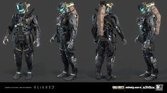 """Based on the amazing concepts provided by Aaron Beck, we were commissioned by Infinity Ward to produce the in-game characters """"FTL class"""" for Call of Duty: Infinite Warfare. All high, low, bakes and textures were created by elite3d character´s team."""