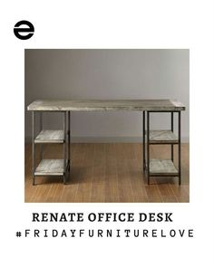 It's been a race to the finish line for #FridayFurnitureLove but after a close call race one furniture has emerged the winner!  Yes! You guessed right!  This renate wood/metal office desk is our #furniturecrush. Sturdy stylish and storage effective. It's no wonder it made it to the finish line.  Agree with us???