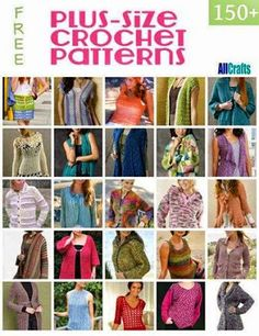 150+ Plus-size Crochet Patterns
