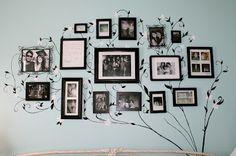 """Cute """"Family Tree"""" gallery wall idea!"""