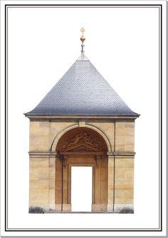 Andrew Zega and Bernd H. Dams, watercolor, Versailles, Menagerie, pavilion