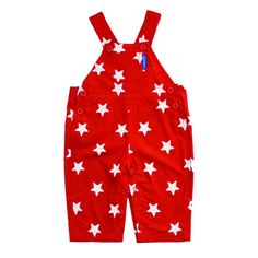 red star baby dungarees