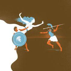 Ilustraciones para proyecto editorial.  La Ilíada - Homero
