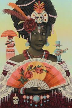 Painter Paul Lewin's new exhibition opens today at the Betti Ono Gallery in Oakland - AFROPUNK Black Panthers, African Abstract Art, African Artwork, Renaissance Artists, Black Artwork, Orisha, Afro Art, African Diaspora, Beautiful Artwork