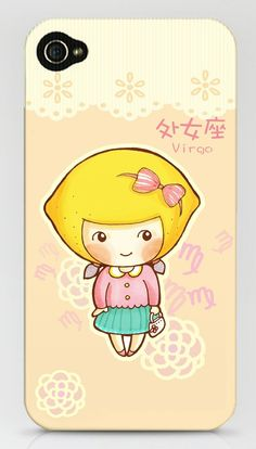 完美的处女, Cute Illustrations,  Pics Illustration Inspiration for Art and Design Projects, How to draw , sketch, illustrate  kawaii, cute, adorable , starsign, astrology, virgo, iphone, case, crafts