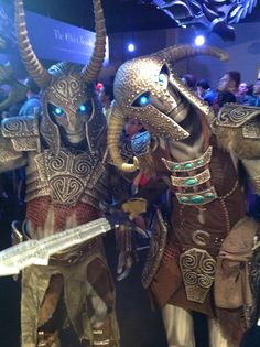 """Two curious draugr shambled into our booth at ESO. (Courtesy of Bill """"chinbeard"""" Doran and Brittany """"LadyLongshanks"""" Doran from Punished Props.)"""