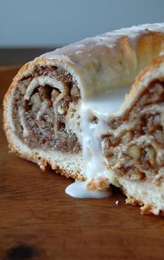 I already have an awesome Nut Roll recipe.the best I have ever eaten (Carolyn& Nut Roll) thanks to Rhonda! Pinning just in case I want to try something different. Just Desserts, Delicious Desserts, Dessert Recipes, Yummy Food, German Desserts, Pecan Nuts, Sweet Bread, Coffee Cake, Baking Recipes