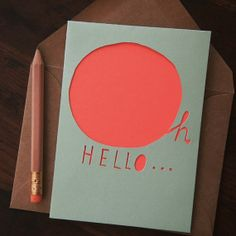 Papercut Card Oh Hello by YourSecretAdmiral on Etsy, $12.00