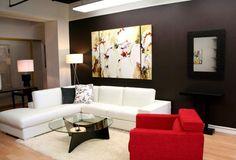 minimalist living room Accent wall