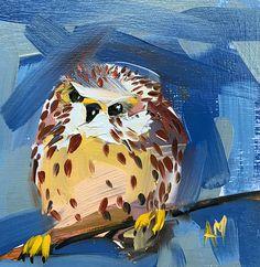 Jonge Torenvalk origineel vogel olieverfschilderij door Angela