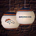 """Denver Broncos NFL 18"""" Rice Paper Lamp"""