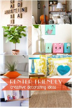Renter-friendly decorating -- that' s actually good for renter's! Inexpensive, easy, no damage #spon