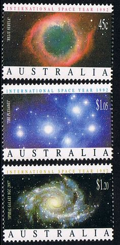 Australia 1992 International Space Year Set Fine Mint SG 1343/5 Scott 1258/60 Other Australian Stamps HERE