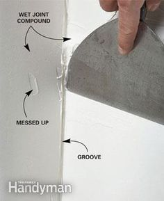 Home Renovation Tips Drywall Taping Tips - How to get better taping results with less hassle Drywall Tape, Drywall Mud, Drywall Repair, Do It Yourself Home, Improve Yourself, Hanging Drywall, Drywall Finishing, Drywall Installation, Design Your Dream House