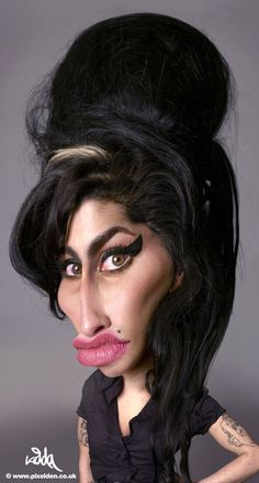 Amy Winehouse Caricature / Now this one can clearly pass for a real photo. Her hair eyes.