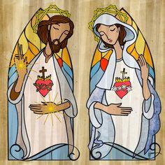 The Sacred Hearts of Jesus and Mary | East of Here and West of There INMACULADO CORAZÓN DE MARÍA, LLEVANOS AL SAGRADO CORAZÓN DE JESUS. SAGRADO CORAZÓN DE JESUS, EN VOS CONFIAMOS.