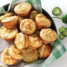 Spicy Jalapeño-Cheddar Mini Muffins: King Arthur Flour