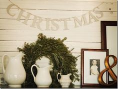 Are you ready to change or add to your Christmas decor this year? Get some ho-ho-holiday inspiration with these Five Christmas Decor Ideas! Christmas has been on my mind… I love this contemporary Country Christmas, Winter Christmas, All Things Christmas, Christmas Holidays, Simple Christmas, Christmas Ornament, Cottage Christmas, Xmas, Elegant Christmas