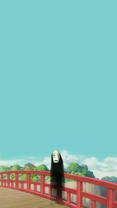 fondo de pantalla anime | Tumblr Art Studio Ghibli, Studio Ghibli Movies, No Face Ghibli, Animes Wallpapers, Cute Wallpapers, Personajes Studio Ghibli, Amoled Wallpapers, Chihiro Y Haku, Studio Ghibli Spirited Away