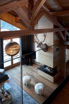 Modern Cabin Interior, Chalet Interior, Interior Design, Chalet Chic, Chalet Style, Ski Chalet Decor, Alpine Chalet, Cottage Interiors, Rustic Interiors