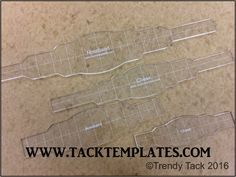 """""""Rectangle Deluxe"""" Halter Set template set includes noseband and cheek templates.  Overlay templates are available as an add-on. #tacktemplates #leathertemplates #tack #templates #halter #pattern #leather #diyleather"""