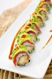 Sushi ....have only had california rolls...still dying to try other sushi. It looks yummy!