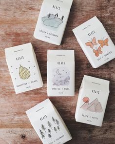 keats soap packaging design with cute little illustrations