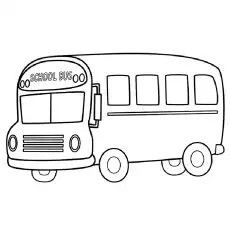Detailed School Bus Coloring Page For Older Children